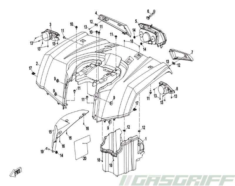 Cfmoto Ersatzteile 450er Modelle Cforce 450 One Bis 2017
