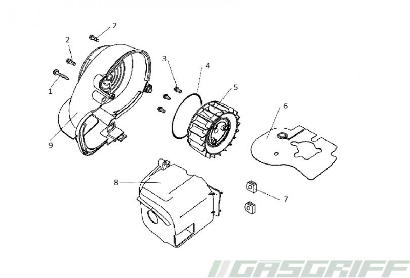 Keeway Ersatzteile 50cc Roller Ry8